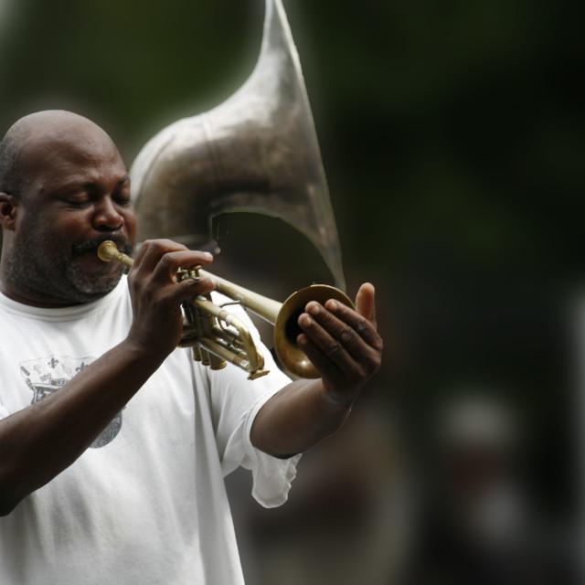 """Street Jazz Performer"" stock image"