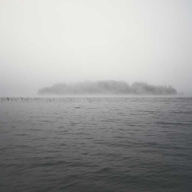 """Sauna Island In A Mist V"" stock image"