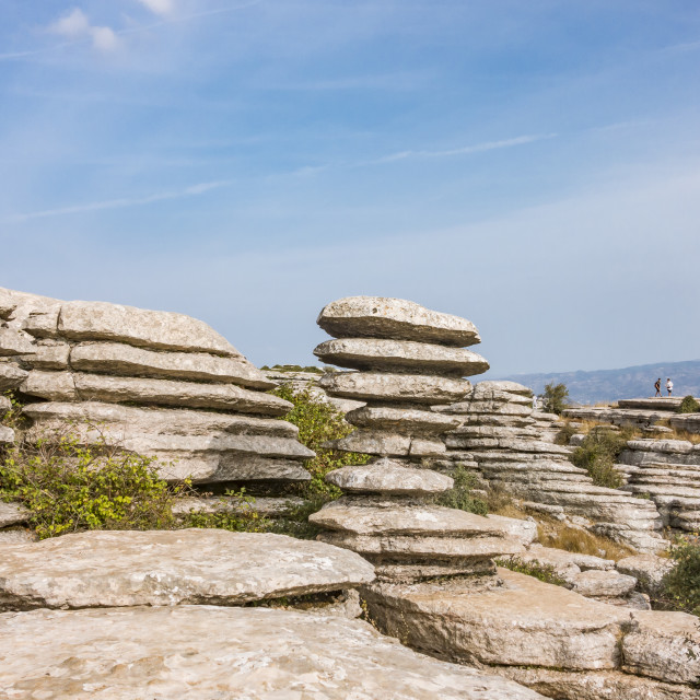 """""""El Tornillo,(Corkscrew) a natural monument at Torcal, Andalusia, Spain."""" stock image"""