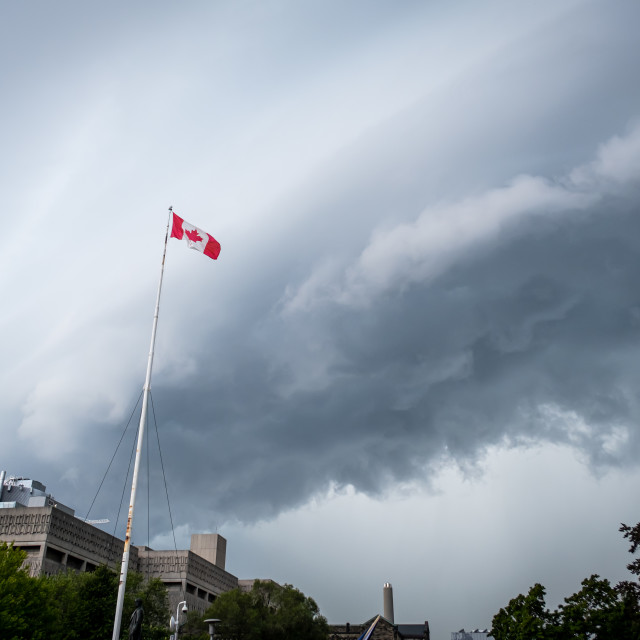 """""""Storm Rolling Into Toronto, Canada"""" stock image"""