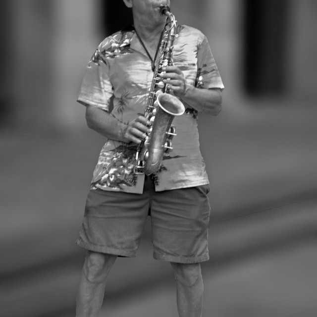 """Street jazz Performer"" stock image"