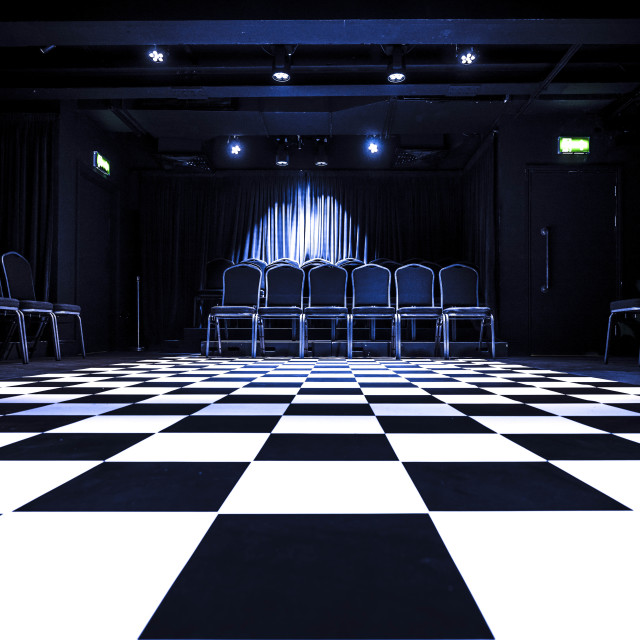 """""""Town and Gown Theatre Room Cambridge UK."""" stock image"""