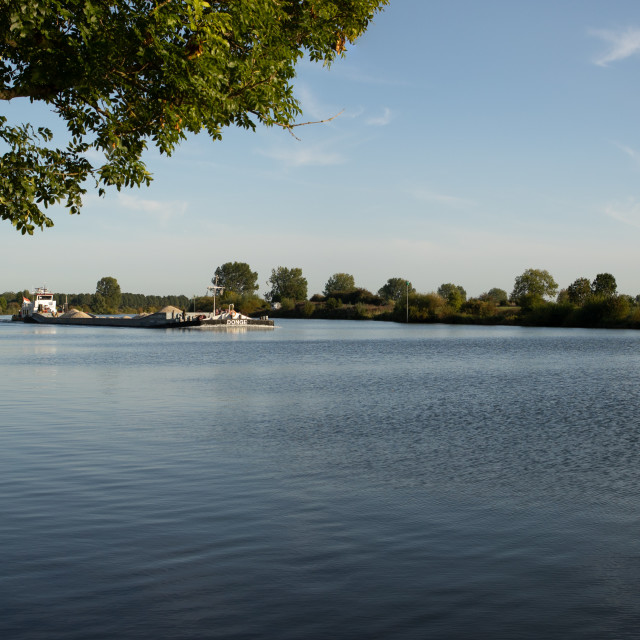 """River Maas Waterfront"" stock image"