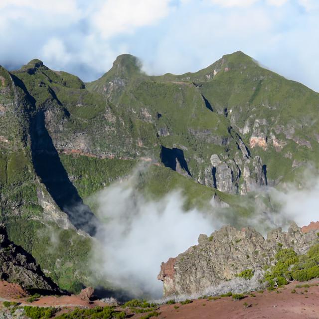 """Pico Ruivo hike"" stock image"