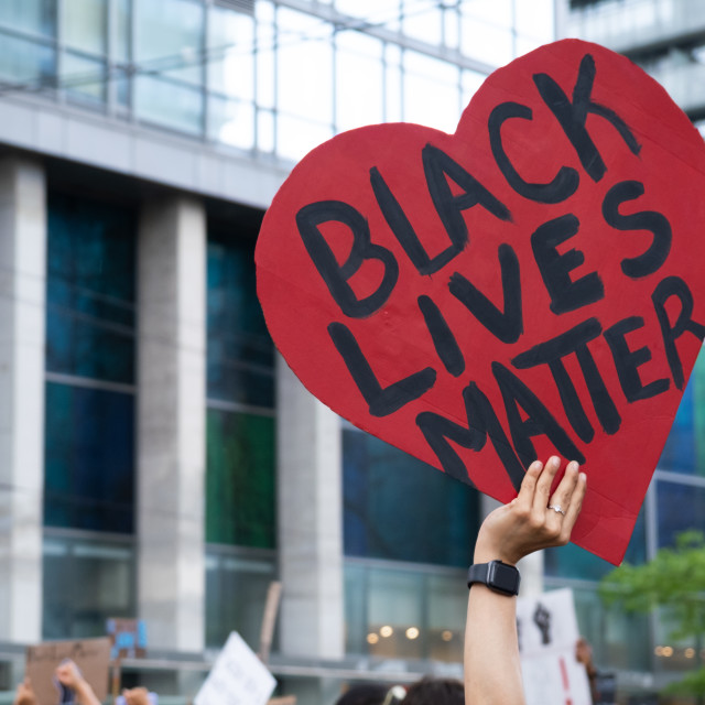 """""""Supportive Black Lives Matter Sign in Toronto, Ontario"""" stock image"""