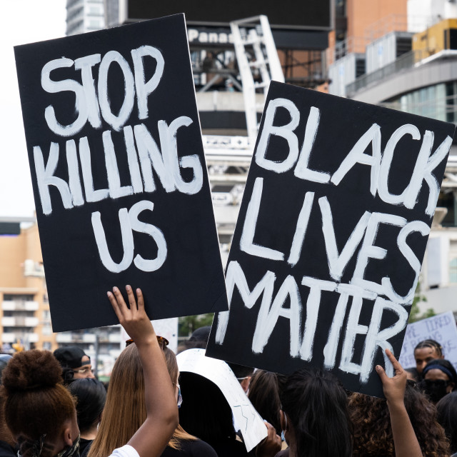"""""""Black Lives Matter Protest in Toronto, Ontario"""" stock image"""