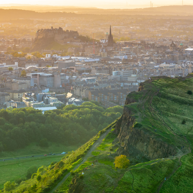 """Edinburgh Castle On A Summer Evening"" stock image"