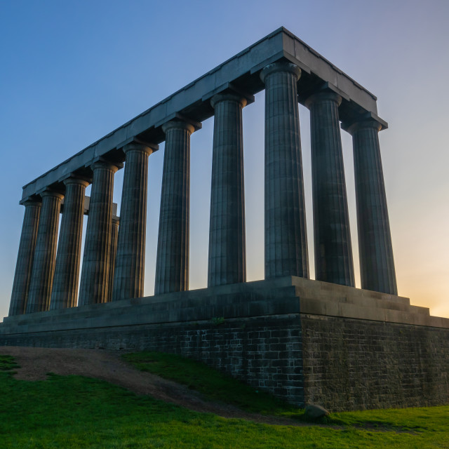 """The National Monument on Calton Hill"" stock image"