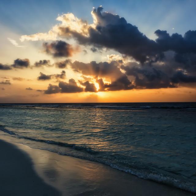 """""""Maldives Sunrise"""" stock image"""
