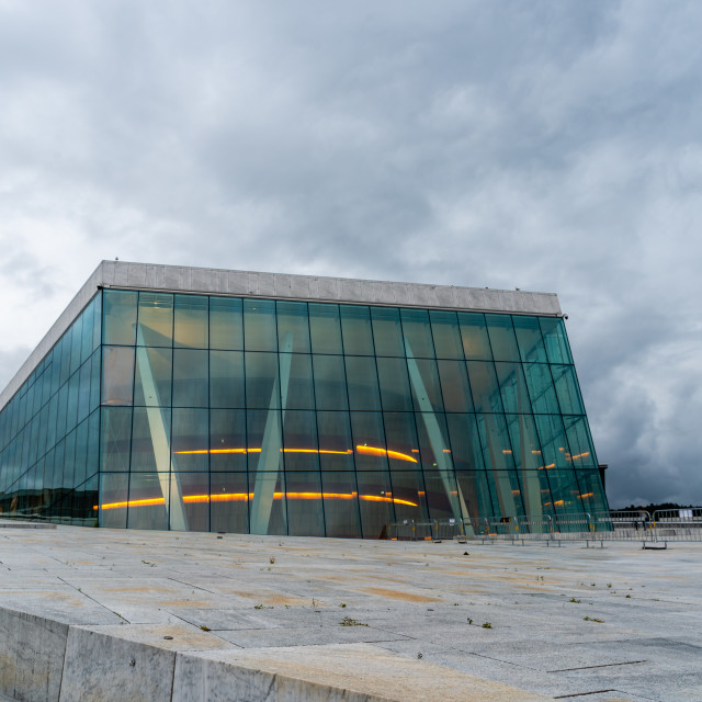 """""""Exterior view of Opera house in Oslo"""" stock image"""