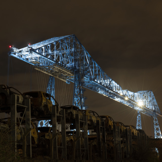 """Tees Transporter Bridge"" stock image"