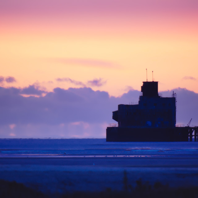 """Humber Estuary Fort at Sunrise"" stock image"