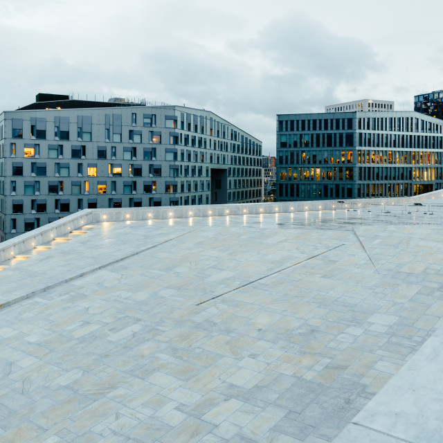 """""""Modern luxury residential and office buildings in Oslo"""" stock image"""