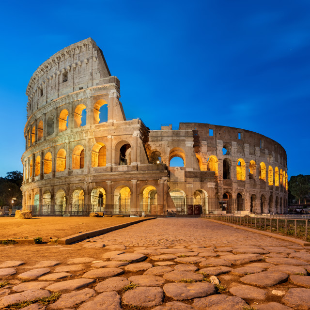 """""""The majestic Colosseum taken at dawn, Rome, Italy"""" stock image"""