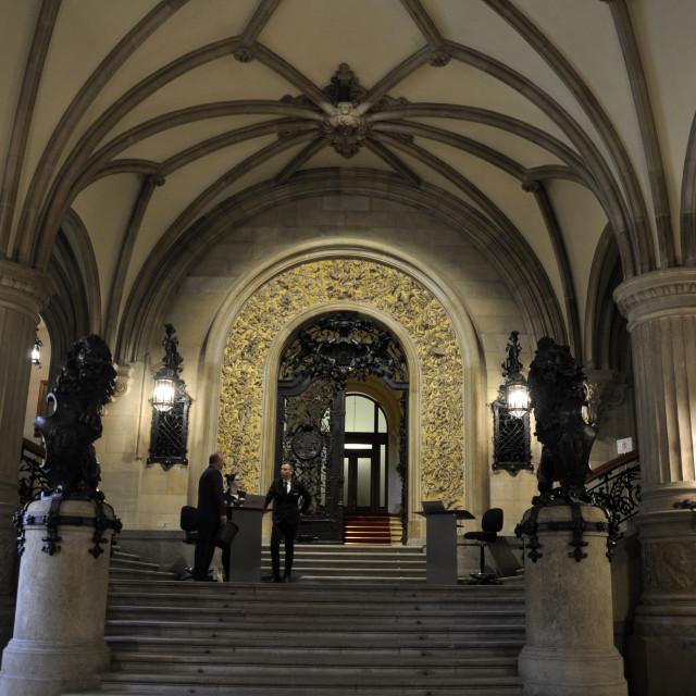 """The Hamburg Rathaus and city hall"" stock image"