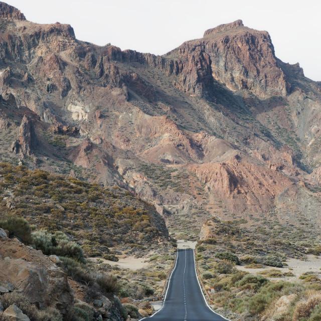 """Road to Mount Teide"" stock image"