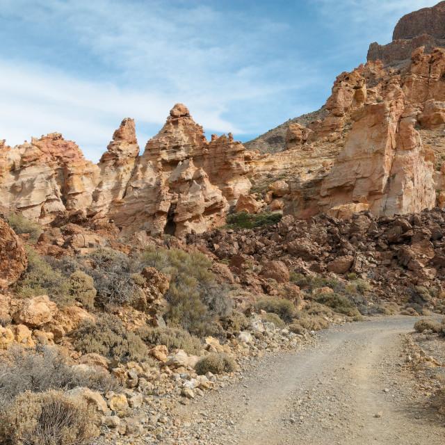 """Road To Pinnacles"" stock image"
