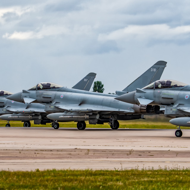 """""""Threeship Eurofighter Typhoon"""" stock image"""