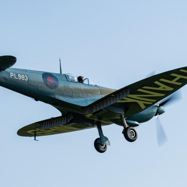 """Spitfire Thank U NHS"" stock image"