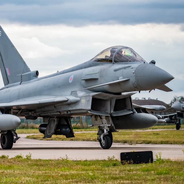 """Eurofighter Typhoons"" stock image"