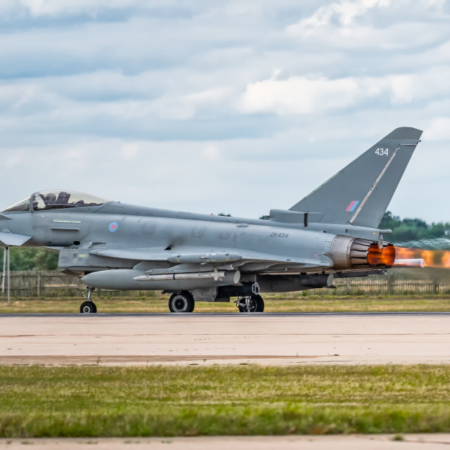 """""""Eurofighter Typhon Afterburners"""" stock image"""