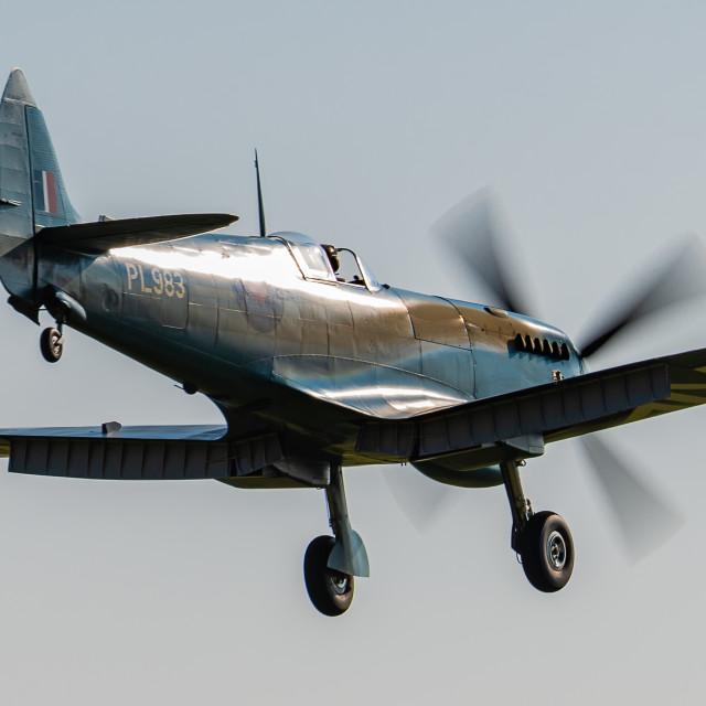 """Thank U NHS Spitfire"" stock image"