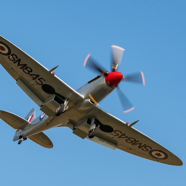"""Spitfire MKVII"" stock image"