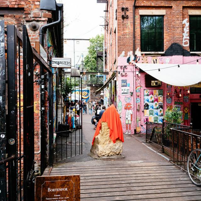 """""""Flea market in Grunerlokka, a trendy quarter in Oslo"""" stock image"""