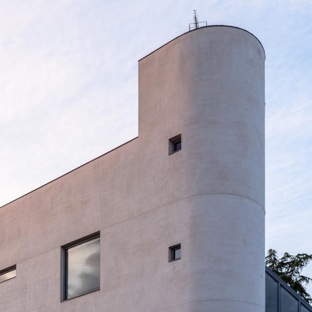"""Modern minimalist architecture luxury home in Madrid"" stock image"