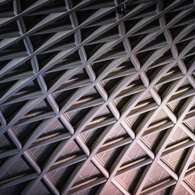"""Architecture of King's Cross Train Station, London UK."" stock image"
