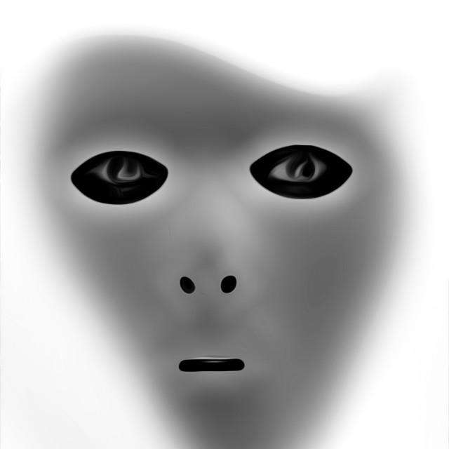 """An Alien"" stock image"