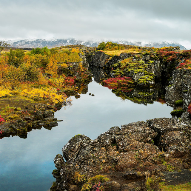 """Autumn in Iceland"" stock image"
