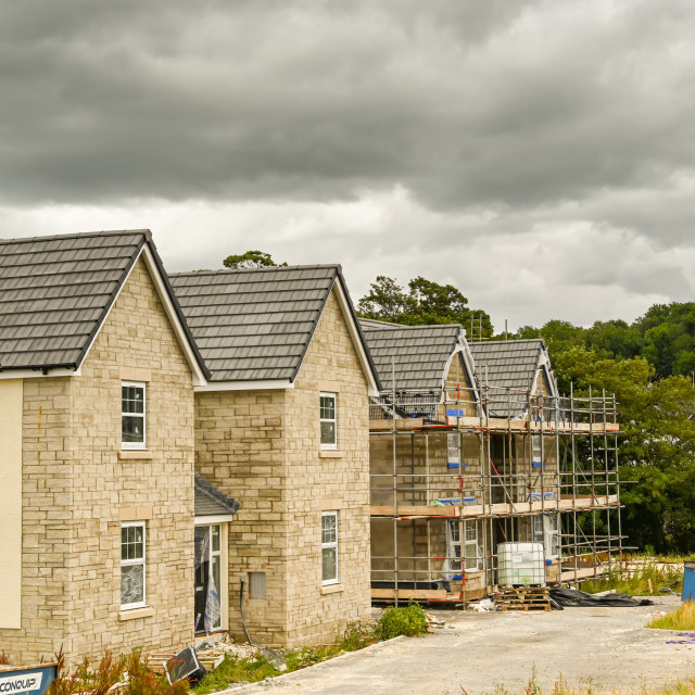 """""""Houses on a new housing development"""" stock image"""