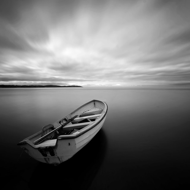 """""""Rowing Boat in Rest"""" stock image"""