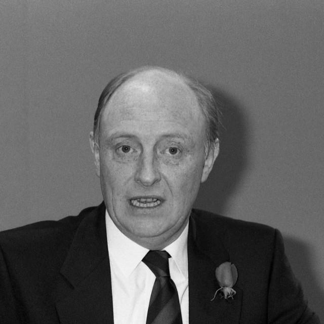 """Rt.Hon. Neil Kinnock, British politician"" stock image"