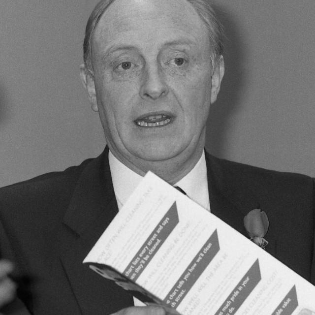 """""""Neil Kinnock, politician"""" stock image"""