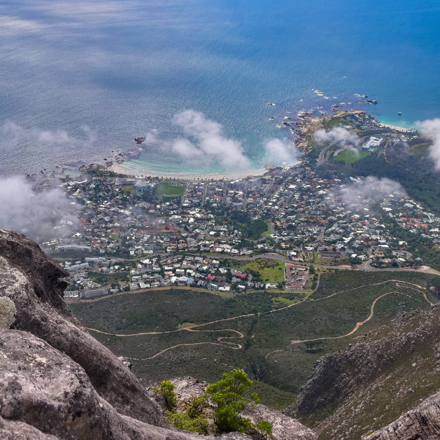 """""""View from Table Mountain"""" stock image"""