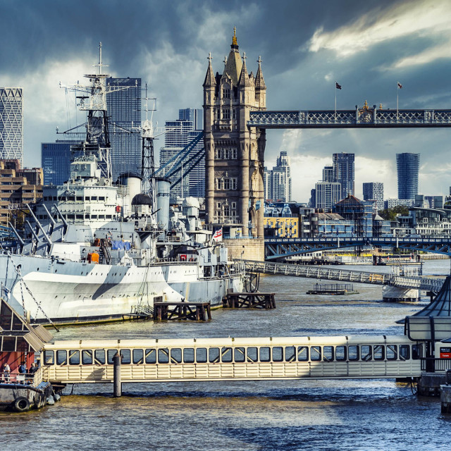 """The River Thames, London UK."" stock image"