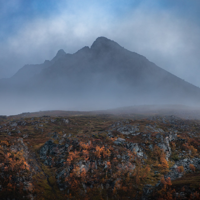 """Foggy mountain"" stock image"