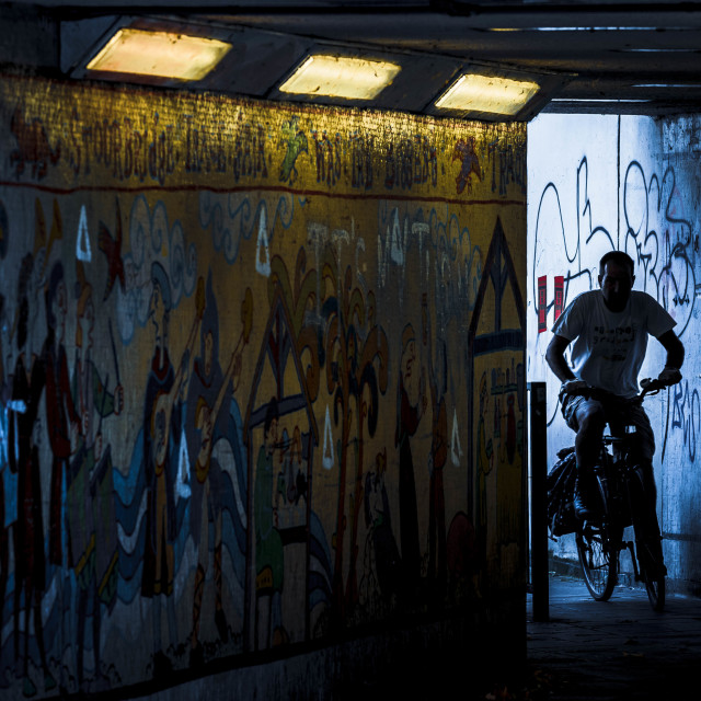 """Subway, East Road Cambridge UK."" stock image"