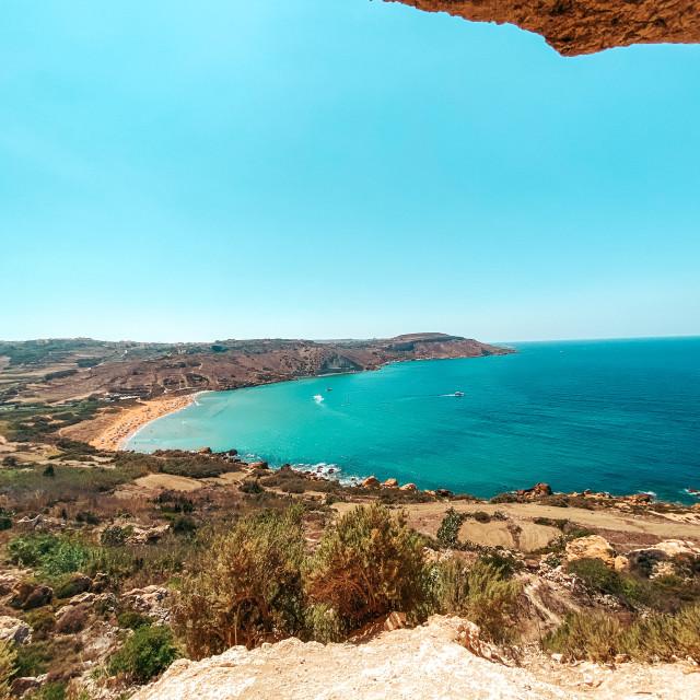 """Mixta Cave, Gozo Malta"" stock image"