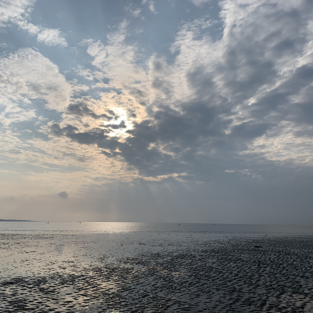 """Sunrise at the beach"" stock image"