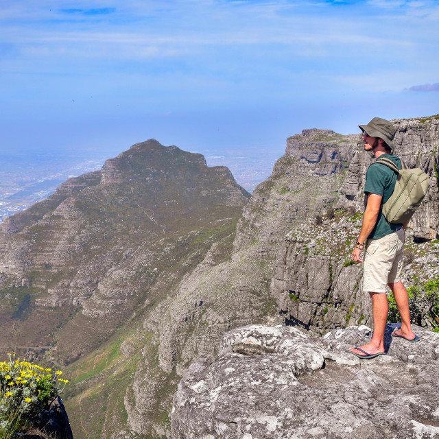 """""""On top of Table Mountain"""" stock image"""