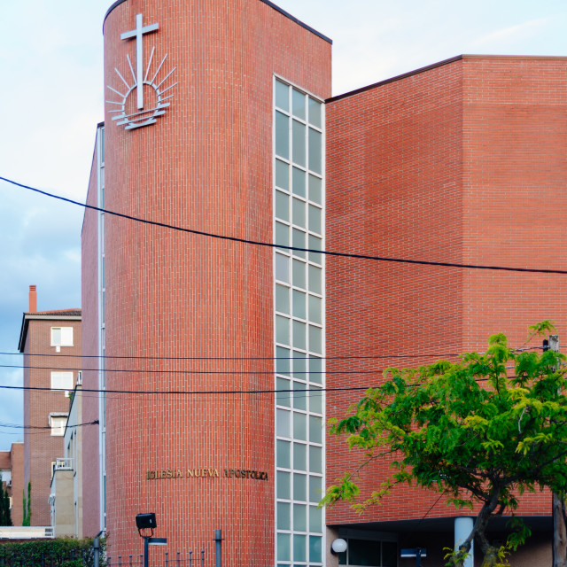 """""""New Apostolic Church in Arturo Soria area in Madrid"""" stock image"""