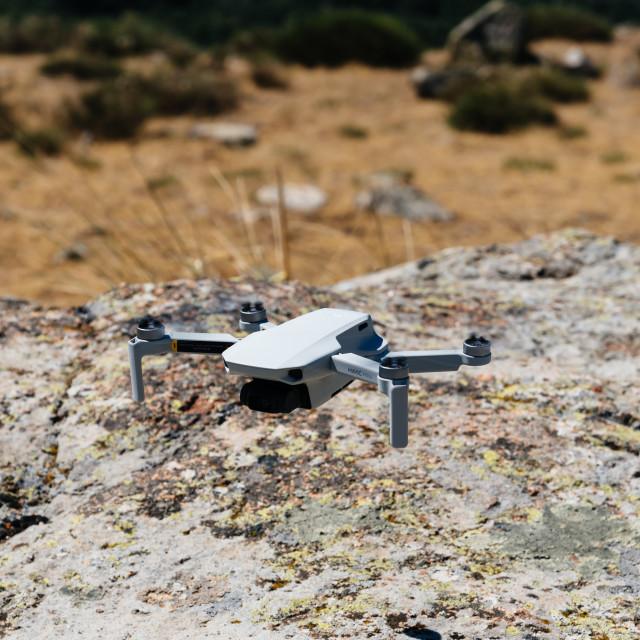 """Close up shoot of a DJI Quadcopter Drone Mavic Mini"" stock image"