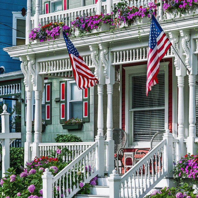 """Red Cottage Inn B & B in Cape May"" stock image"