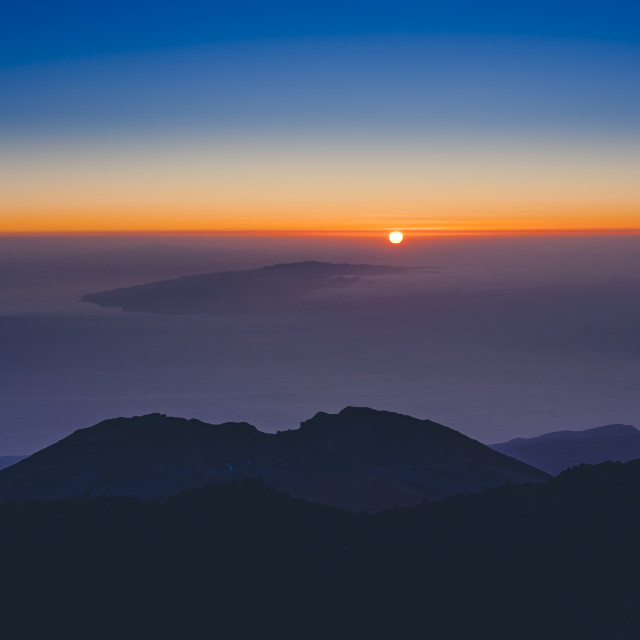 """Sunset at Pico Viejo"" stock image"