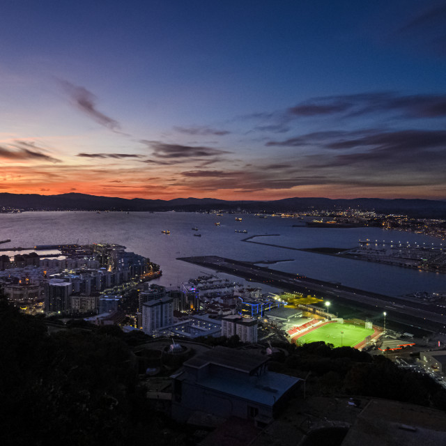 """Gibraltar sunset"" stock image"