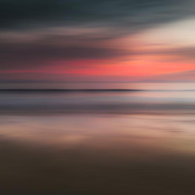 """Elie Beach Sunset"" stock image"