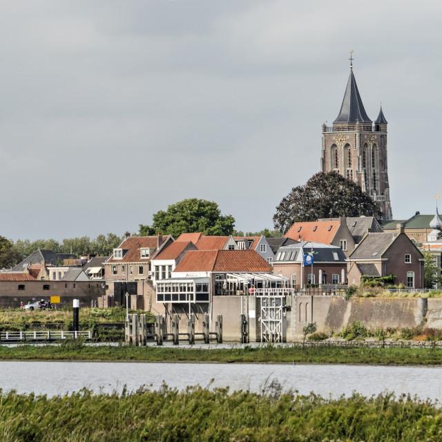 """Gorinchem city and church"" stock image"